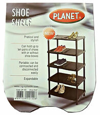 Zapato de 5 niveles estante almacenamiento portátil de plástico Rack diez pares Organizador Soporte Nuevo