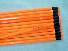 24 Hexagon NEON Orange Personalized Pencils
