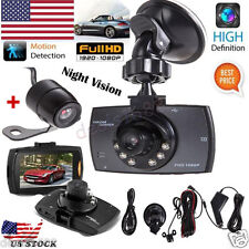 "2.7"" 1080P HD LCD Dual Lens Car Dash Camera Video DVR Cam Recorder Night Vision"