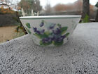 Waverly Garden Room Sweet Violet Purple Flowers Green Leaves White Cereal Bowl