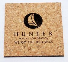 Hunter Sailboat Square 3/16in Thick Drink Coasters Set of 4 - CORK,sailing,boat
