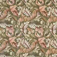 F903 Green And Purple Floral Leaves Tapestry Upholstery Fabric By The Yard
