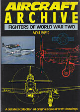 AIRCRAFT ARCHIVE FIGHTERS OF WORLD WAR TWO VOLUME 2 - 1988 Argus Books aeroplani