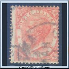 1863 Italia Regno Lire 2 scarlatto Tiratura Londra De La Rue n. L22 Diena Usato