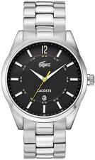 New Lacoste Montreal Men Stainless Steel Dress Date Watch 45mm 2010578 $235
