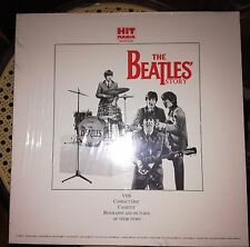 THE BEATLES STORY BOX CD VHS K7 BOOKLET NEW SEALED -