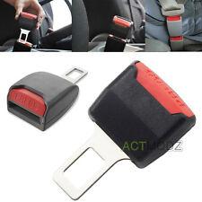 2PCS Black Clasp Plug Car Auto Seat Belt Extender Safe Buckle Clip Alarm Stopper
