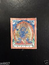 ANTIQUE  MONGOLIAN TIBETAN  BUDDHIST TSAKLI  THANGKA PAINTING