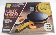 VINTAGE NOS ELECTRIC CREPE MAKER NORDIC WARE HARVEST GOLD 85032 750W MADE IN USA