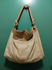 BCBG MAX AZARIA Beige Signature w/ Soft Leather Trim Large Tote Handbag XL