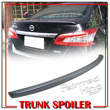 PAINTED FOR NISSAN SENTRA B17 7th REAR TRUNK LIP SPOILER WING 2013-2016 ABS