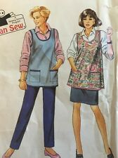 VINTAGE 8162 SIMPLICITY 1992 MOTHERS APRON KIDS CAN SEW PATTERN ONE SIZE UC FF