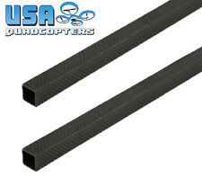 2PCS 15x15x300mm 3K Carbon Fiber Square Tube for Quadcopter Drone Frame Building