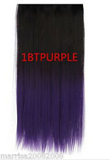 2 TONE COLOR FULL HEAD CLIP-IN HAIR EXTENSION  HAIR STRAIGHT/ CURLY WAVY