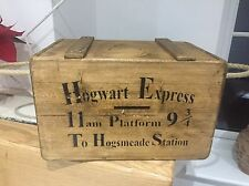 Vintage style Hogwarts Express wooden crate/box With Lid And Hope Handles