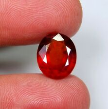 06 CT NATURAL RED HESSONITE GARNET OVAL CUT CABOCHON RING SIZE TOP GEMSTONE A179