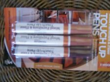 set of three furniture touch up pens repairs scratches on floors & furniture