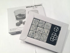 9x Light Gray Whiskey Whisky Scotch Soapstone Cold Stone Ice Cubes Rocks Bag USA