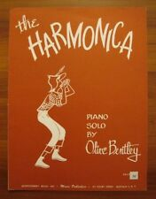 The Harmonica Sheet Music Copyright 1955 Piano Solo Olive Bentley Montgomery (O)