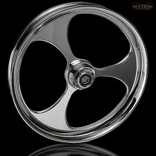"Harley Davidson 30"" Inch Chrome  Front Wheel ""Raven"" Custom Harley Wheels"