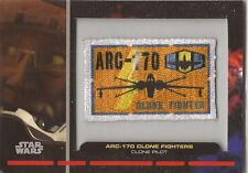 """Star Wars Galactic Files - PR-16 """"Clone Pilot"""" Embroidered Patch Relic Card"""