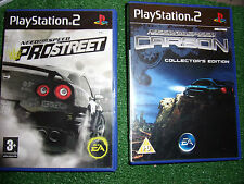 2 PLAYSTATION 2 PS2 RACE RACING N4S GAMES NEED FOR SPEED CARBON COLed +PROSTREET