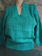 Marken Vintage Damen Pullover Zaunkönig Strickjacke Gr.40  Pulli Grün 30-44