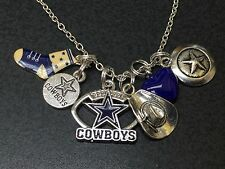 "Western Cowboys Star Boot Hat Dallas Charm Tibetan Silver 18"" Necklace Mix E"