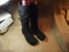 Occasion non porté UK 8 Femme Noir Chaussure Bottes zone arbres non inclus