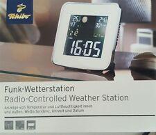 Funk Wetterstation TCM Neu Uhr m. Farbdisplay Netzbetrieb Luftfeuchtigkeit Datum