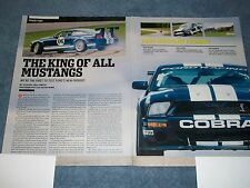 """2006 Ford FR500GT Info Article """"The King of All Mustangs"""" Cobra Shelby"""