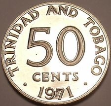 Rare Proof Trinidad & Tobago 1971 50 Cents~Only 12,000 Minted~Free Shipping