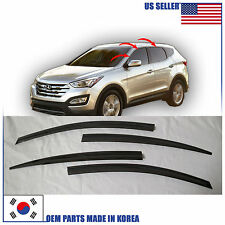 SMOKED DOOR WINDOW VENT VISOR DEFLECTOR (A145) HYUNDAI SANTA FE SPORT 2013-2017