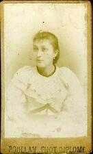 POULLAN Portrait Victorine agée de 15 ans mode fashion CDV photo circa1890