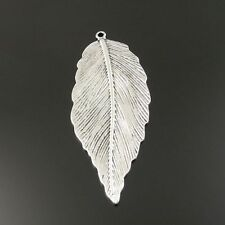10pcs Antiqued Silver Vintage Alloy Wood Tree Leaf  Pendant Charms 33185
