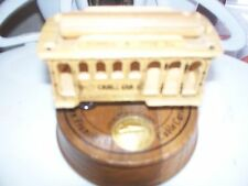 Wooden San Francisco Cable Car Powell & Hyde Sts Music Box from CTC
