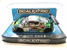 "Scalextric ""Crocodile"" Audi R8 LMS Ultra DPR W/ Lights 1/32 Scale Slot Car C3717"
