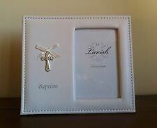 Baptism White Photo Frame Leather type material gr8 Christening Gift