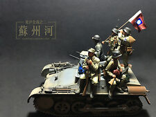 Resin soldier 1/35 resin figure chinese infantry in WWII Anti-Japanese War 5pcs