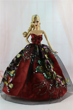Gorgeous Princess Party Dress/Clothes Wedding Gown For Barbie Doll N10