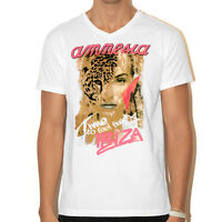 OFFICIAL Amnesia Ibiza: Wildlife Mens V-Neck T-shirt White or Grey Marl RRP £40