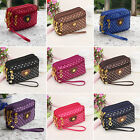 New Women Ladies Purse Coin Multilayer Canvas Bag Small Messenger Crossbody Bag