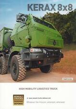 RENAULT KERAX 8x8 2016 FRENCH ARMY MILITARY BROCHURE PROSPEKT FOLDER