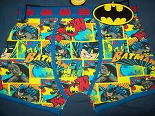 """11-12yrs 152cm New BATMAN/ Batman BOXERS/ Boxer Shorts; """"KAPOW!""""; Cotton BNWT UK"""