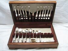 Set Community/Oneida Coronation Silver Plate Flatware Sevice for 12 79 pcs +Box