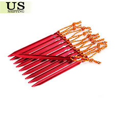 "20Pcs 18cm Aluminum Alloy 7"" Outdoor Camping Trip Tent Pegs Ground Nail Stakes"