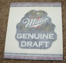 MILLER MGD GENUINE DRAFT Foil STICKER decal craft beer brewery brewing