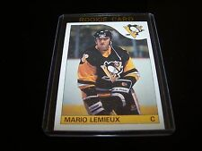 + (1) 1985-86 OPC ( MARIO LEMIEUX )  #9  ROOKIE REPRINT HOCKEY  CARD