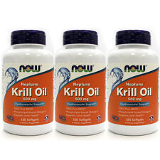 Neptune Krill Oil 500 mg 120 Softgels (Pack of 3!) - NOW Foods
