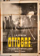 manifesto 2F originale OTTOBRE - OKTYABR Sergei Eisenstein 1969